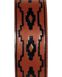 ASOS - Brown Asos Stamped Leather Bracelet for Men - Lyst