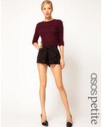 ASOS Black Bow Front Shorts