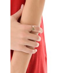 House of Harlow 1960 | Metallic Engraved Orb Ring | Lyst