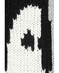 Tibi   Gray Penguin Intarsia Knitted Sweater   Lyst