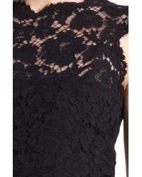 Valentino   Black Lace Sheath Dress   Lyst