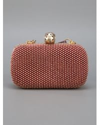 Alexander McQueen | Red 'skull' Box Clutch | Lyst
