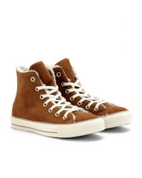 Converse | Brown Chuck Taylor All Star Suede Hightops | Lyst