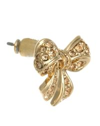 Ted Baker - Metallic Pave Crystal Bow Earrings - Lyst
