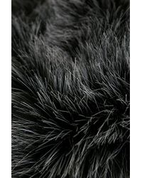 Eastex - Black Yoke Seam Fur Collar Coat - Lyst