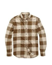 French Connection   Brown Bushcraft Twill Shirt for Men   Lyst