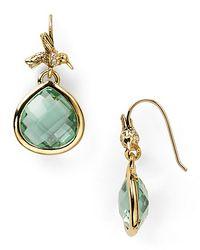 Juicy Couture - Green Pretty Little Gem Faceted Teardrop Earrings - Lyst