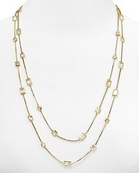 Michael Kors | Metallic Clear Crystal Double Wrap Necklace 50 | Lyst