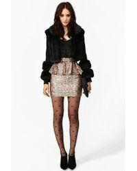 Nasty Gal | Gold Peplum Sequin Skirt | Lyst
