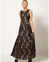 8f8950379265 Oasis Gothic Lace Maxi Dress in Black - Lyst