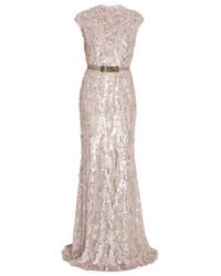 Elie Saab | Pink Fully Sequin Gown | Lyst