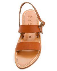 K. Jacques - Natural Barigoule Two-Strap Sandal - Lyst