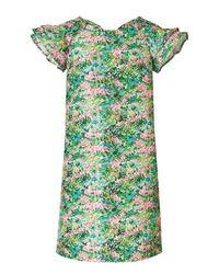 RED Valentino | Brown Leopard Print Dress | Lyst