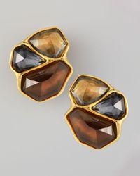 Alexis Bittar | Brown Bel Air Cluster Clip Earrings | Lyst