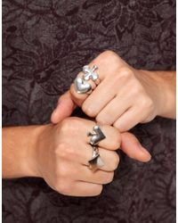 ASOS - Metallic Asos Playing Card Ring Pack for Men - Lyst