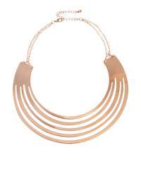 ASOS | Metallic Rose Gold Torque Necklace | Lyst