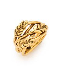 Aurelie Bidermann - Metallic Wheat Ring - Lyst
