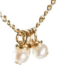 Dogeared | Metallic Three Wishes Pearl Bead Necklace | Lyst