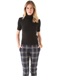 Juicy Couture - Black Turtleneck Pullover Sweater - Lyst