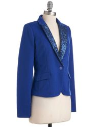 ModCloth - Blue Cobalt in The Name Of Love Blazer - Lyst