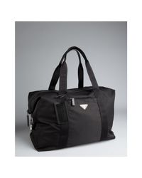 Prada | Black Nylon Weekend Bag for Men | Lyst