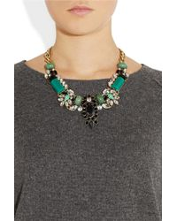 J.Crew - Green Casati Cubic Zirconia and Crystal Necklace - Lyst