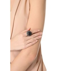 Juicy Couture - Black Gemstone Cocktail Ring - Lyst