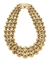Michael Kors - Metallic Three Strand Bead Necklace  - Lyst