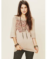 Free People | Natural Floral Tunic | Lyst