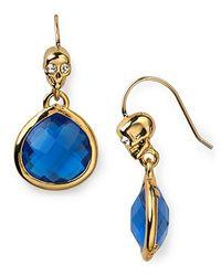 Juicy Couture - Metallic Pretty Little Gems Faceted Teardrop Earrings - Lyst