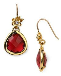 Juicy Couture - Red Pretty Little Gems Faceted Teardrop Earrings - Lyst