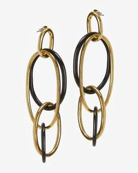 Kara Ross | Metallic Interlocking Oval Resin Earrings | Lyst