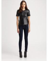 Sachin & Babi   Black Barcelona Leather Top   Lyst