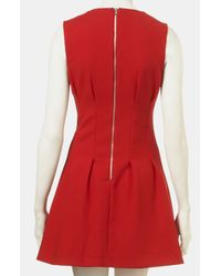 Topshop | Red Seamed Waist Party Dress | Lyst