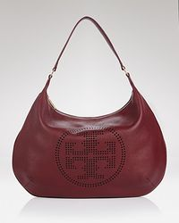 Hobo - Brown Tory Burch Perforated Logo - Lyst
