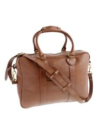J.Crew | Brown Montague Single Compartment Briefcase for Men | Lyst