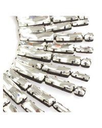Noir Jewelry - Metallic Crystal Collar Silver - Lyst