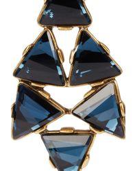 Oscar de la Renta | 24karat Gold Plated Swarovski Crystal Clip Earrings | Lyst