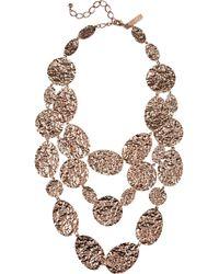 Oscar de la Renta - Metallic Scalloped Web Crystal Collar Necklace - Lyst