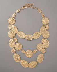 Oscar de la Renta | Metallic Russian Tiered Necklace | Lyst
