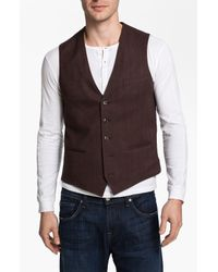 1901 | Brown Cotton Vest for Men | Lyst