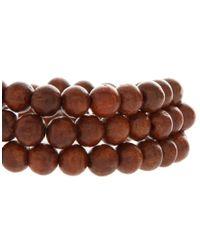 ASOS - Brown Triple Bead Bracelet Pack for Men - Lyst