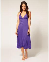 ASOS Collection - Purple Asos Jersey Grecian Midi Beach Dress - Lyst