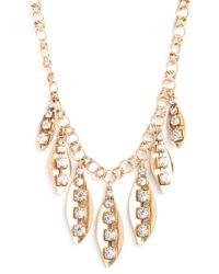 BaubleBar - Metallic Ice Leaf Necklace - Lyst