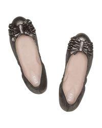 Bloch   Black Raphaela Metallic Leather Ballet Flats   Lyst