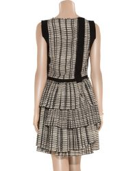Bottega Veneta | Gray Layered Plisse Skirt Dress | Lyst