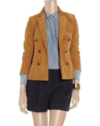 Boy by Band of Outsiders - Natural Double-breasted Corduroy Jacket - Lyst