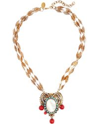 Erickson Beamon - Metallic Goldplated Swarovski Crystal Necklace - Lyst