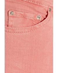 Étoile Isabel Marant - Pink Adam Low-Rise Skinny Jeans - Lyst