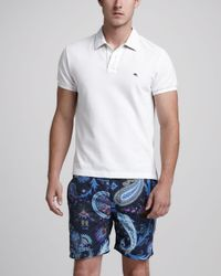 Etro | Paisley Swim Trunks Blue for Men | Lyst